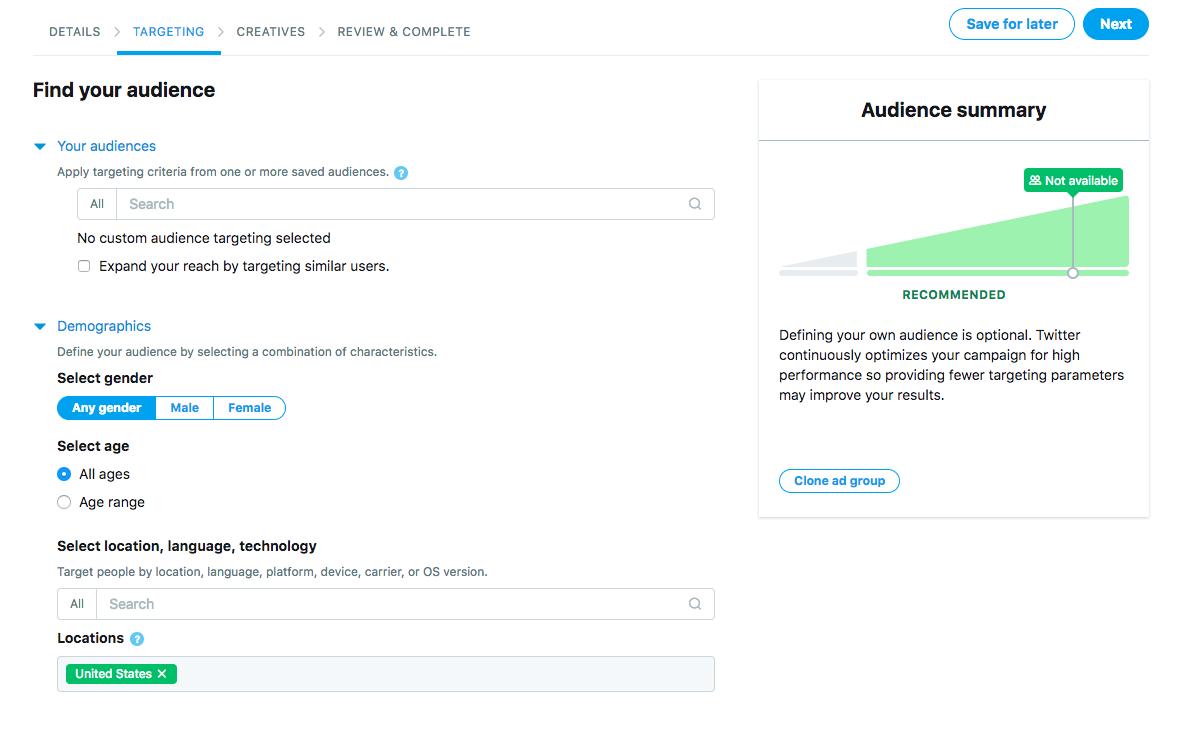 Create a followers campaign