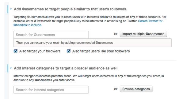 twitter lead gen target