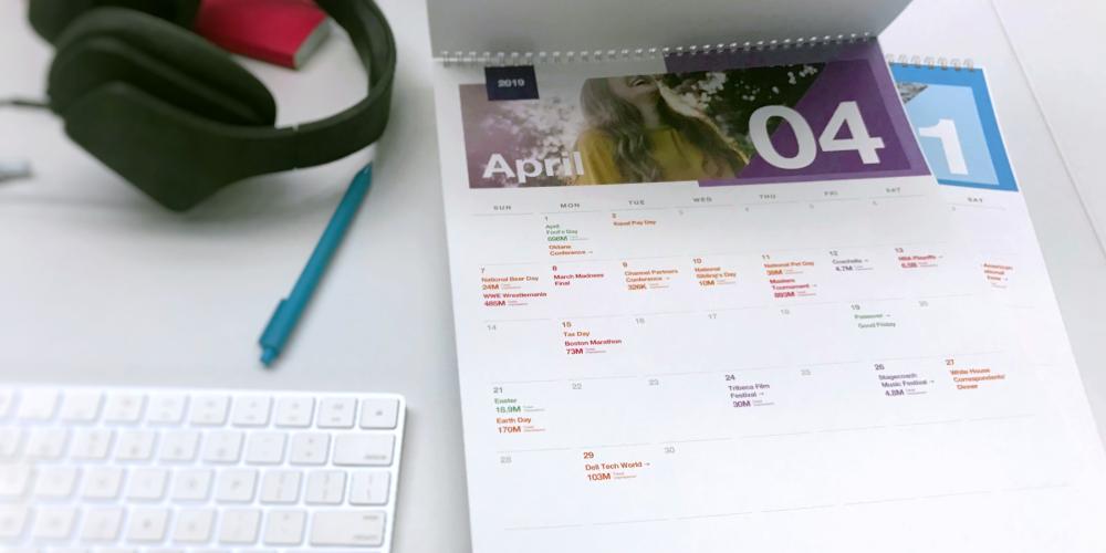 2019 Twitter marketing calendar