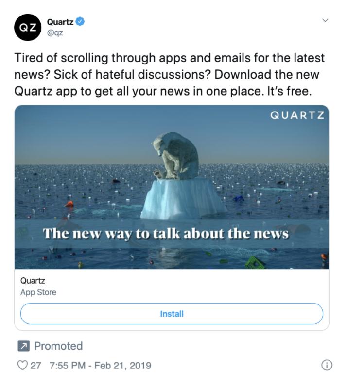 Twitter Ads app Installs