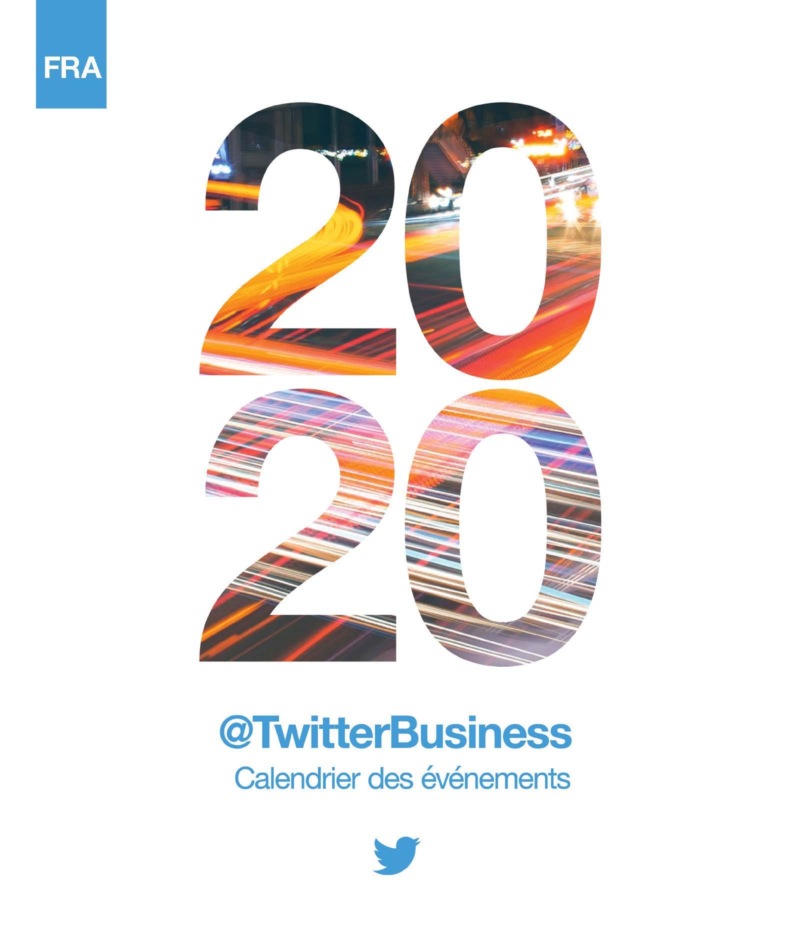 Calendrier marketing Twitter 2020