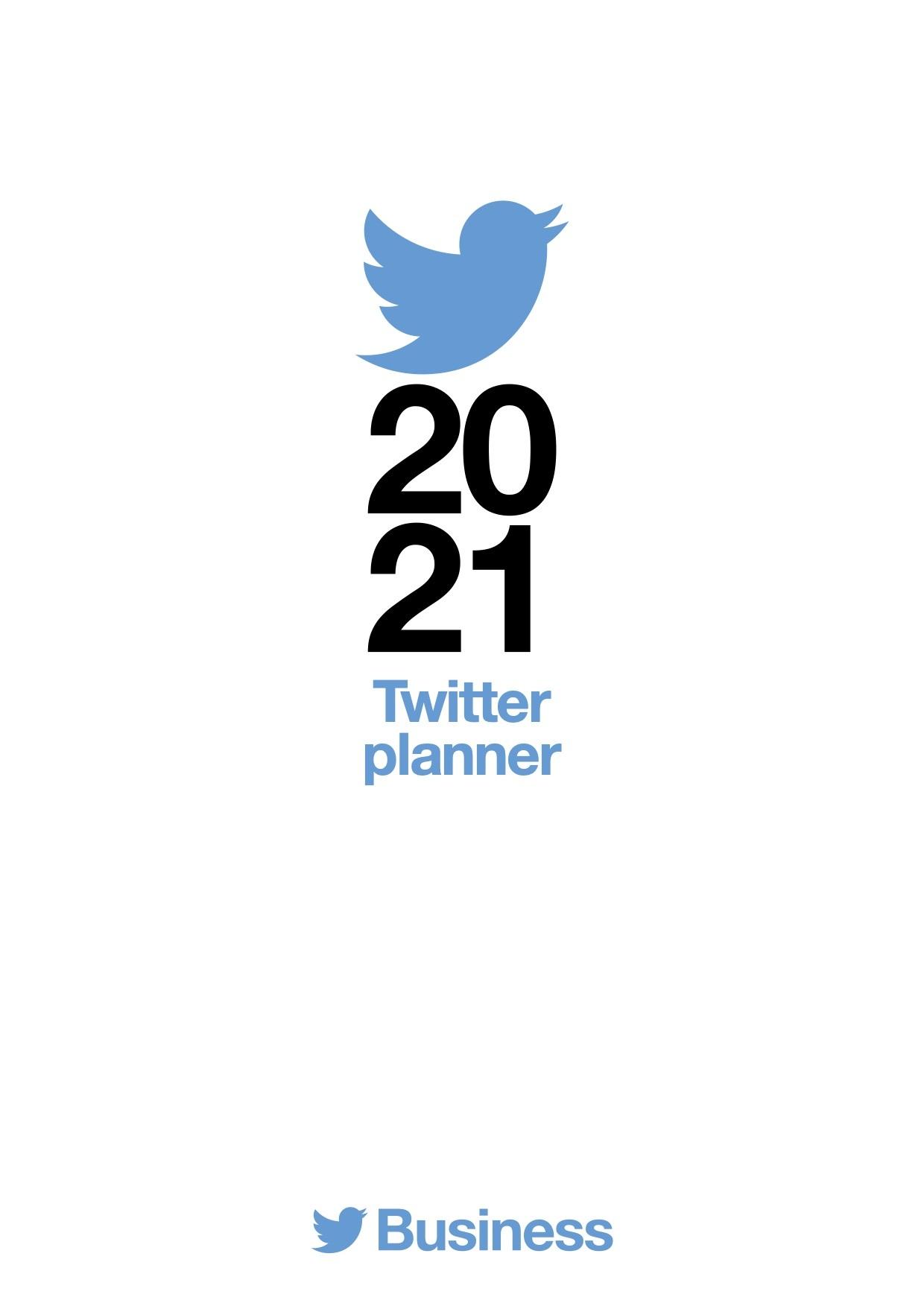 Twitter planner 2021